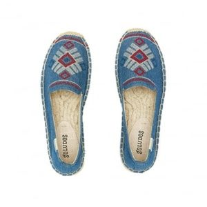 <Soludos> Embroidered Espadrille Flats Loafers